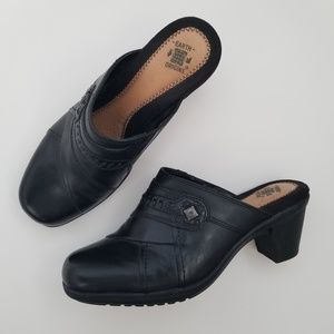 Earth Origins Comfort Layla Leather Mule Clogs